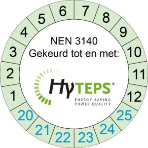 NEN3140 HyTEPS control sticker