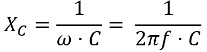 impedance of a capacitor equation